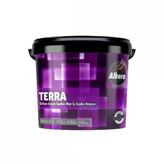 Albera Terra Silikonlu İpeksi Mat İç Cephe Beyaz  3,5 Kg