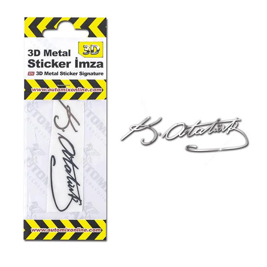 Automix 3D Metal Sticker İmza