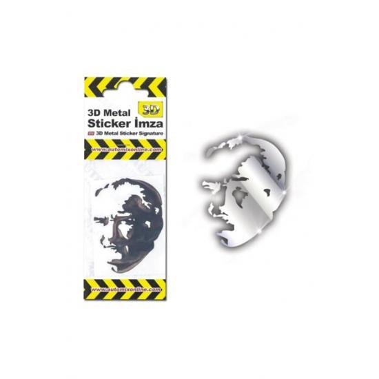 Automix 3D Metal Sticker Siluet