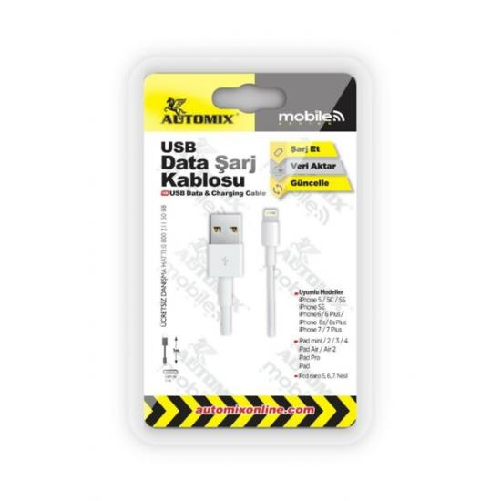 Automix İphone 5/6/7 Data Kablosu