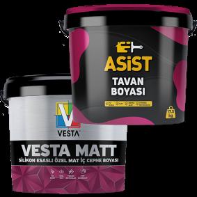 Vesta Matt İç Cephe Boyası 20 Kg + Asist Tavan Boyası 17,5 Kg